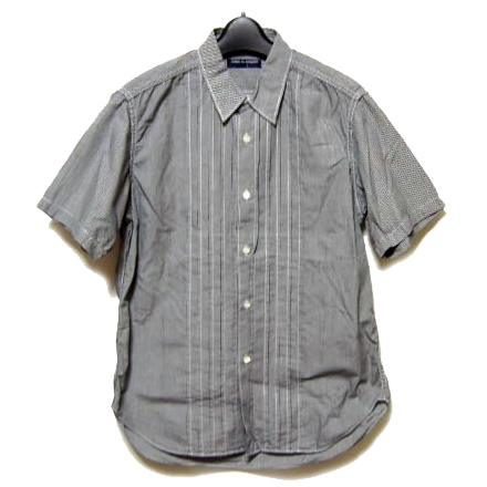 COMME des GARCONS HOMME 2008 gingham check short sleeves shirt