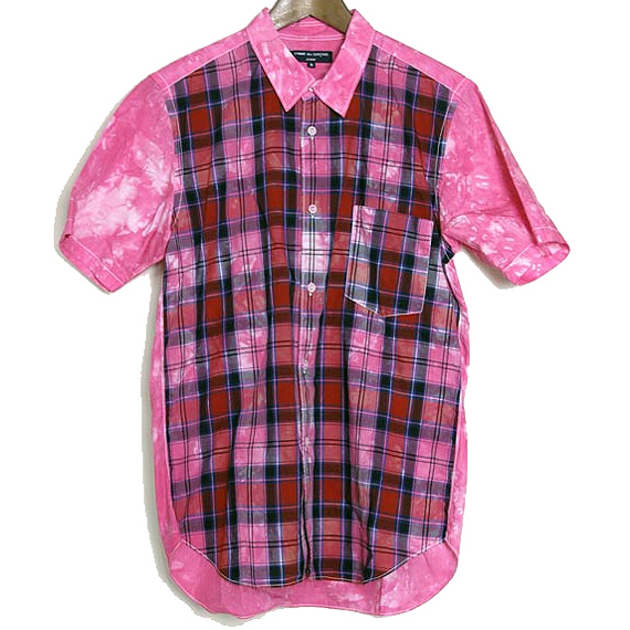 COMME des GARCONS HOMME Short sleeve check shirt
