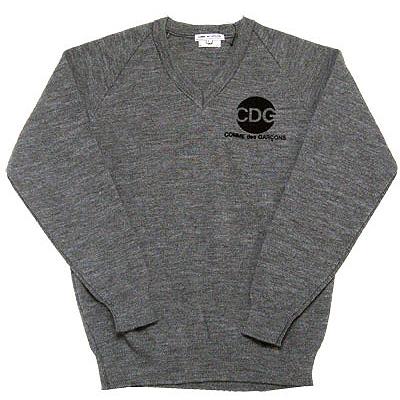 COMME des GARCONS × D&DEPARTMENT V-neck knit gray