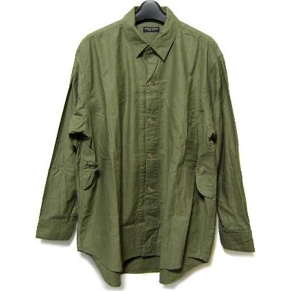 COMME des GARCONS HOMME PLUS khaki work shirt