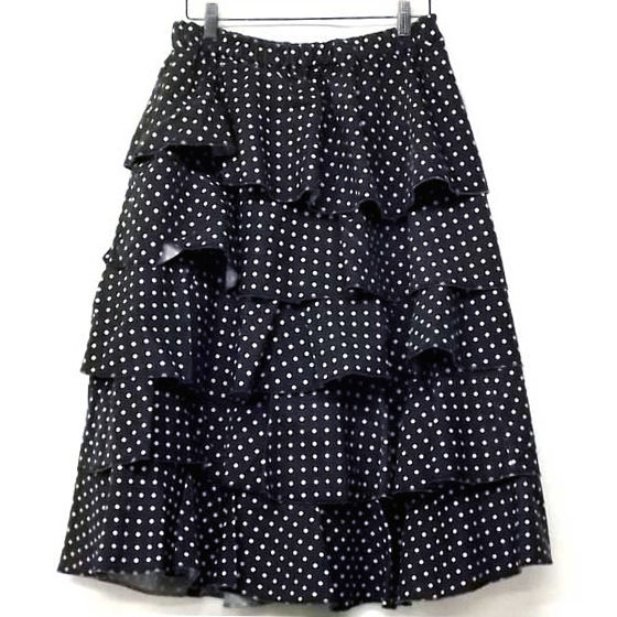 BLACK COMME des GARCONS 2009AW polyester dot skirt