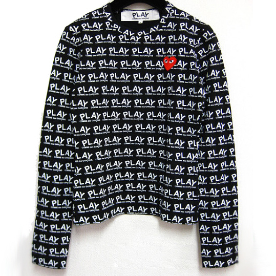PLAY COMME des GARCONS embroidered heart monogram cutsew