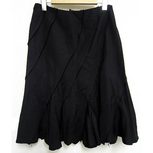 tricot COMME des GARCONS nylon bias cut skirt