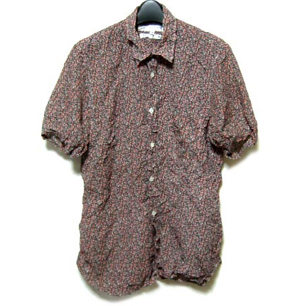 COMME des GARCONS SHIRT antique flower pattern short sleeves shirts