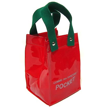 COMME des GARCONS POCKET limit logo tote bag