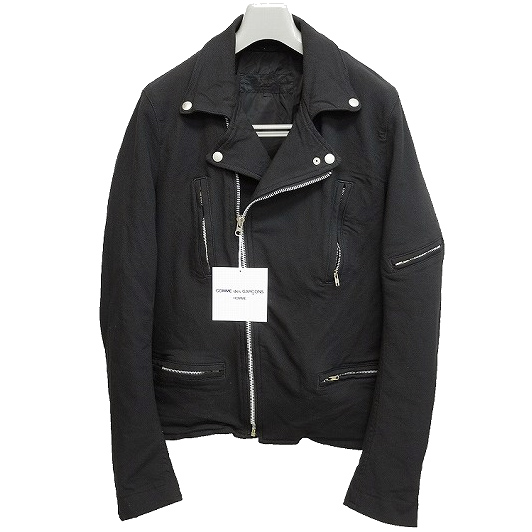 COMME des GARCONS HOMME 2010AW poly fulling riders jacket