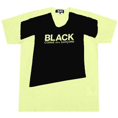 BLACK COMME des GARCONS print T-shirt