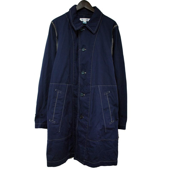 COMME des GARCONS SHIRT stitch design patchwork long coat