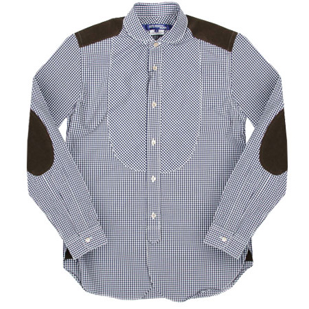 JUNYA WATANABE COMME des GARCONS MAN corduroy switching gingham check shirt