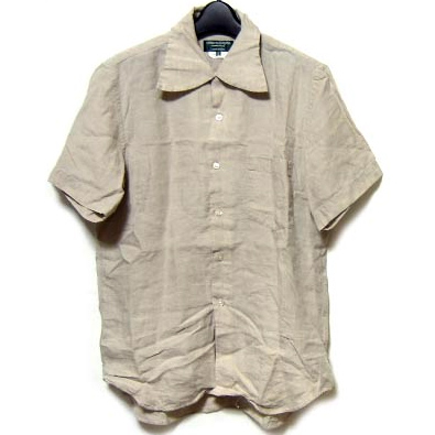 COMME des GARCONS HOMME PLUS EVER GREEN linen short sleeve shirt