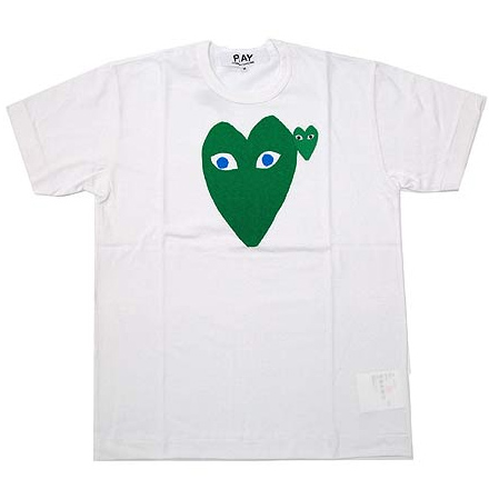 PLAY COMME des GARCONS green heart T-shirts