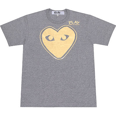 PLAY COMME des GARCONS with border gold heart T-shirts