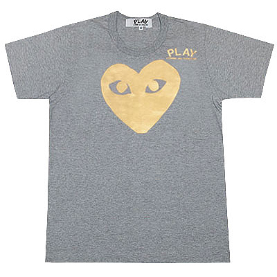 PLAY COMME des GARCONS gold heart T-shirts