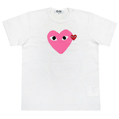 PLAY COMME des GARCONS pastel pink heart T-shirts