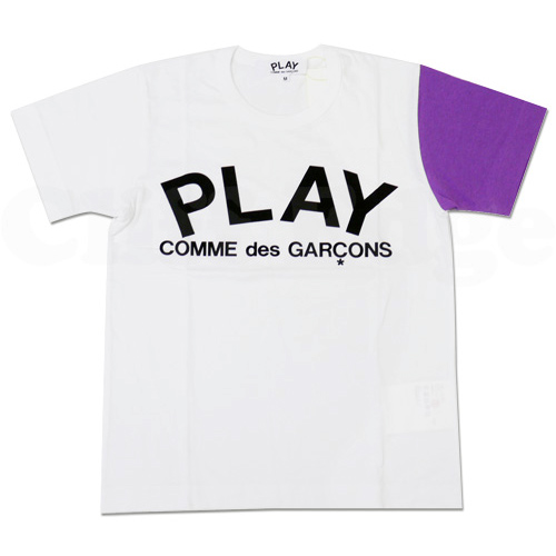 PLAY COMME des GARCONS crazy colour PLAY logo T-shirts