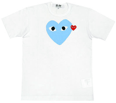 PLAY COMME des GARCONS pastel blue heart T-shirts