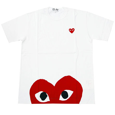 PLAY COMME des GARCONS  PLAY hem red hear T-shirts