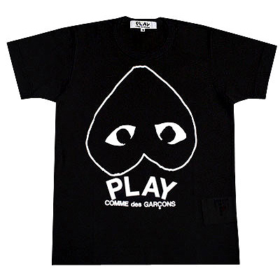 PLAY COMME des GARCONS reverse heart & logo T-shirts