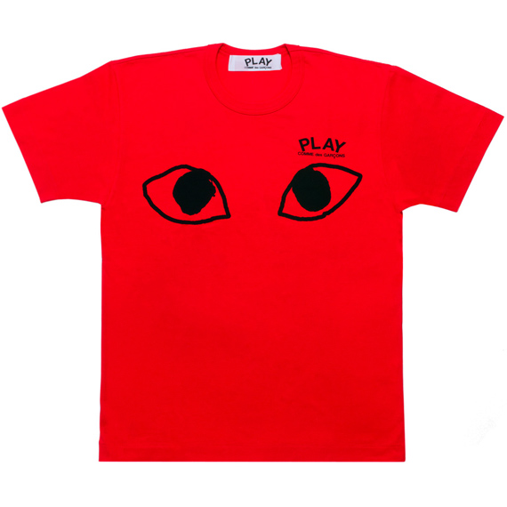 PLAY COMME des GARCONS  big eyes red T-shirts