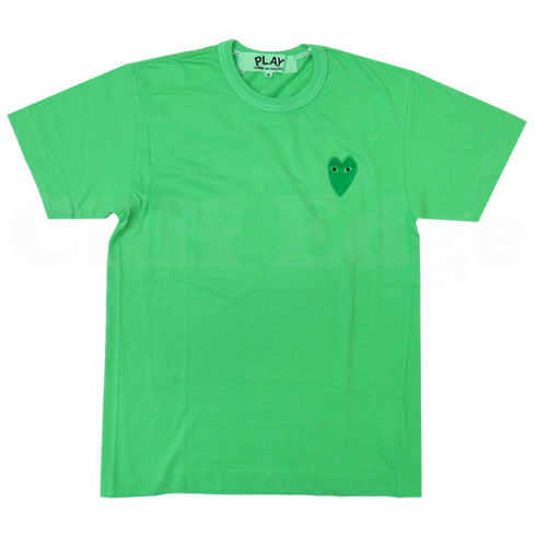 PLAY COMME des GARCONS GOOD DESIGN SHOP limited green T-shirts
