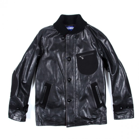 JUNYA WATANABE COMME des GARCONS MAN Shawl Collar Leather Jacket
